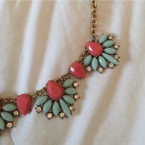 J.Crew statement necklace! Cute colors!